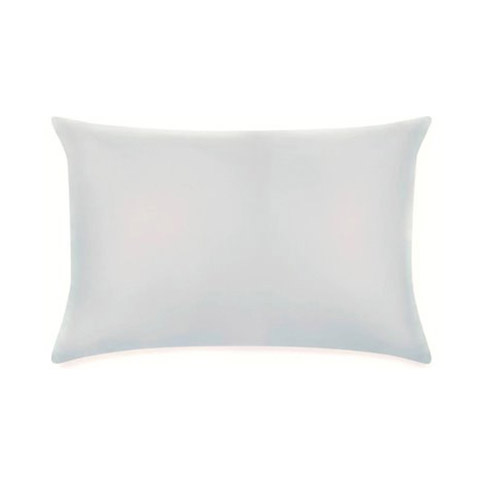 Pair of Housewife Pillowcases 400TC Silver Satin