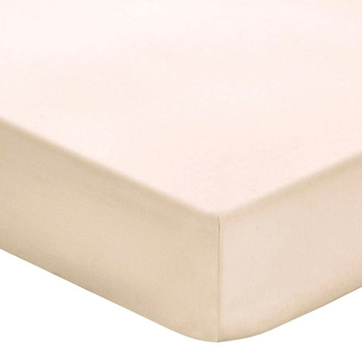 Fitted Sheet 400TC Cream Satin DBL