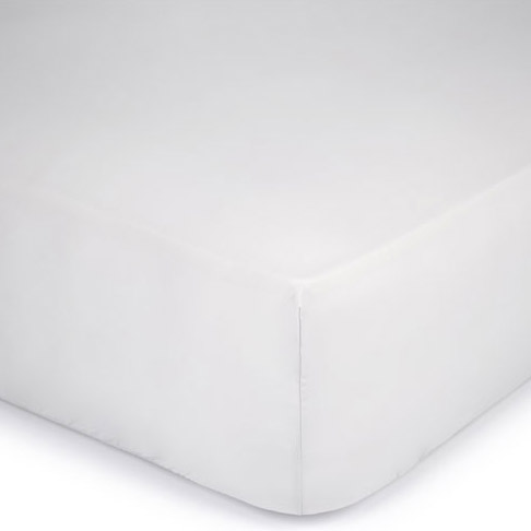 Fitted Sheet 400TC Silver Satin 135x190 + 25