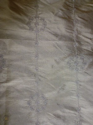 Cathcart Embroidered Curtain Fabric Triffle